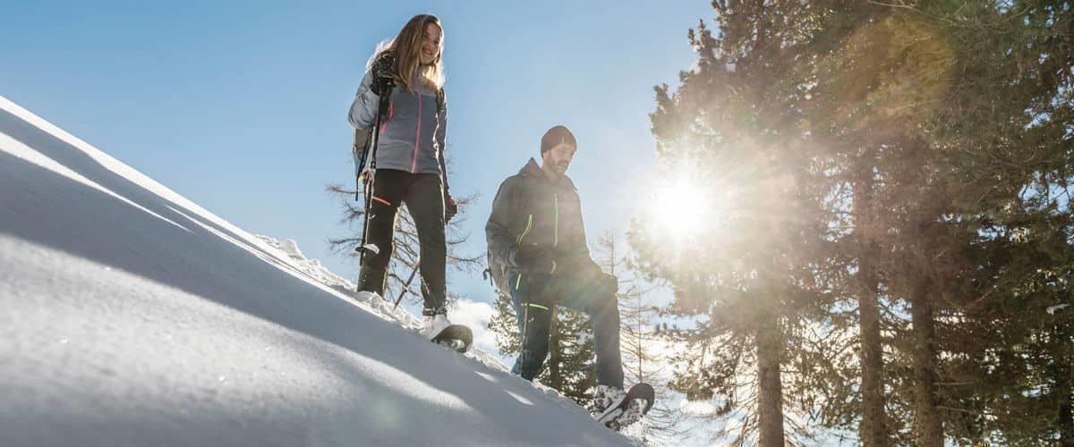 Schneeschuhwandern im Eisacktal zu einsamen Gipfel